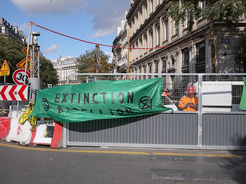extinction rebellion châtelet 9         octobre 2019